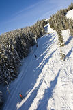 Skiing in Norway. Ski lift/elevator at Kvitfjell, Norway Royalty Free Stock Photo