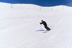 Skiing in Palandoken Royalty Free Stock Image