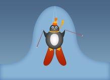 Skiing penguin Stock Image
