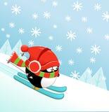 Skiing Penguin Stock Photography