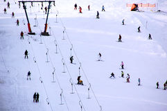 Skiing people Royalty Free Stock Images