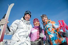 Skiing people Royalty Free Stock Image