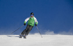 Skiing person Stock Photography
