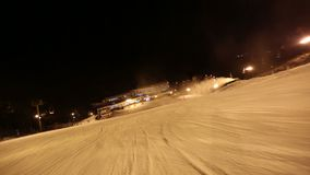 Skiing POV Glide Cam stock footage