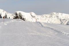 Skiing resort Royalty Free Stock Photo