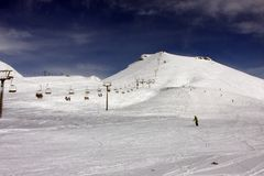 Skiing resort Gudauri in Georgia, Caucasus Montains. Skiing resort Gudauri at winter in Georgia, Caucasus Montains Stock Photo