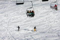 Skiing resort Gudauri in Georgia, Caucasus Montains. Skiing resort Gudauri at winter in Georgia, Caucasus Montains Royalty Free Stock Photo