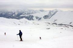 Skiing resort Gudauri in Georgia, Caucasus Montains. Skiing resort Gudauri at winter in Georgia, Caucasus Montains Stock Photos