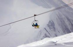 Skiing resort Gudauri in Georgia, Caucasus Montains. Skiing resort Gudauri at winter in Georgia, Caucasus Montains Royalty Free Stock Photography