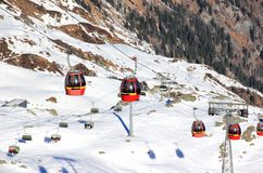 Skiing Resort Kitzsteinhorn / Kaprun, Austria. Stock Photos