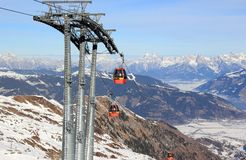 Skiing Resort Kitzsteinhorn / Kaprun, Austria. Royalty Free Stock Images