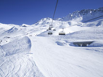 Skiing resort in Lenzerheide, Grisons, Switzerland Stock Image