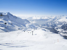 Skiing resort in Lenzerheide, Grisons, Switzerland. View to skiing resort in Lenzerheide, Grisons, Switzerland Stock Image