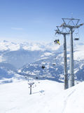 Skiing resort in Lenzerheide, Grisons, Switzerland. View to skiing resort in Lenzerheide, Grisons, Switzerland Royalty Free Stock Photography
