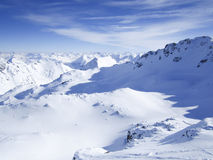 Skiing resort in Lenzerheide, Grisons, Switzerland. View to skiing resort in Lenzerheide, Grisons, Switzerland Stock Photos