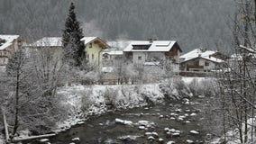 Skiing resort Mayrhofen, Austria stock footage