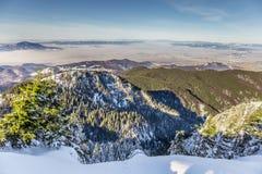 Skiing resort at Postavarul, Brasov, Transylvania, Romania stock photo