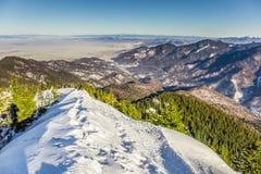 Skiing resort at Postavarul, Brasov, Transylvania, Romania stock photos