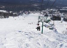 Skiing resort  Sheregesh. Stock Photos