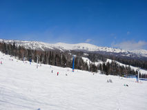 Skiing resort  Sheregesh Royalty Free Stock Photography