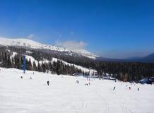 Skiing resort  Sheregesh Stock Photo