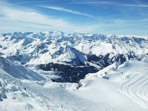 Skiing resort Stock Images