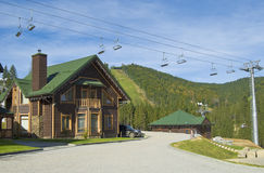 Skiing resort in the summer time Stock Image