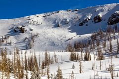 Skiing the Ridge Stock Photos