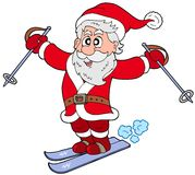 Skiing Santa Claus Stock Image