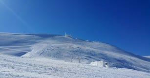 Skiing scene Stock Images