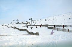 Skiing in Scotland. Winter Skiing near Aviemore in Scotland
