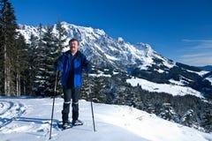 Skiing senior Royalty Free Stock Image