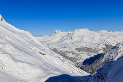 Skiing at Serfaus/Fiss Stock Photography