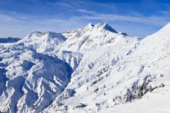 Skiing at Serfaus/Fiss Stock Image