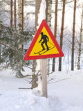Skiing Sign Stock Photos