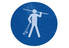 Skiing sign Stock Images