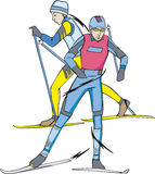 Skiing. Skiers Royalty Free Stock Photos