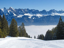 Skiing slope Royalty Free Stock Images