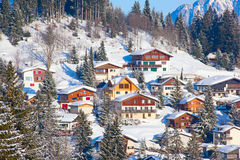 Skiing slope Stock Image