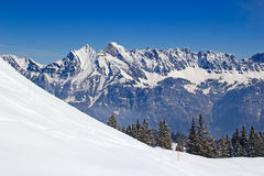 Skiing slope Stock Images