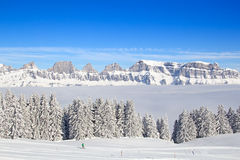 Skiing slope Royalty Free Stock Photography