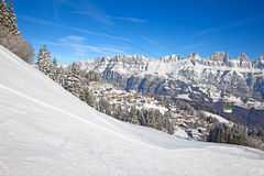 Skiing slope Stock Photography