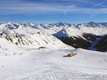 Skiing slope at skiing resort Davos, Switzerland Stock Images