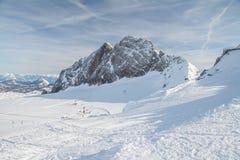 Austrian alps in winter stock image
