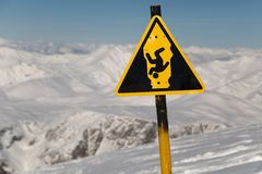 Skiing slopes from the top Royalty Free Stock Photography