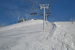 Skiing slopes from the top Stock Photography