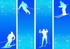 Skiing in snow Royalty Free Stock Photography