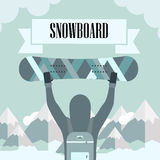 Skiing and Snowboarding Royalty Free Stock Images