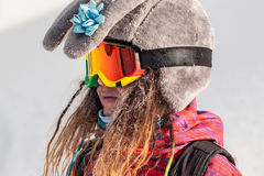 Skiing and snowboarding Stock Photos