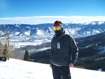 Skiing in Snowmass, Colorado Stock Photo